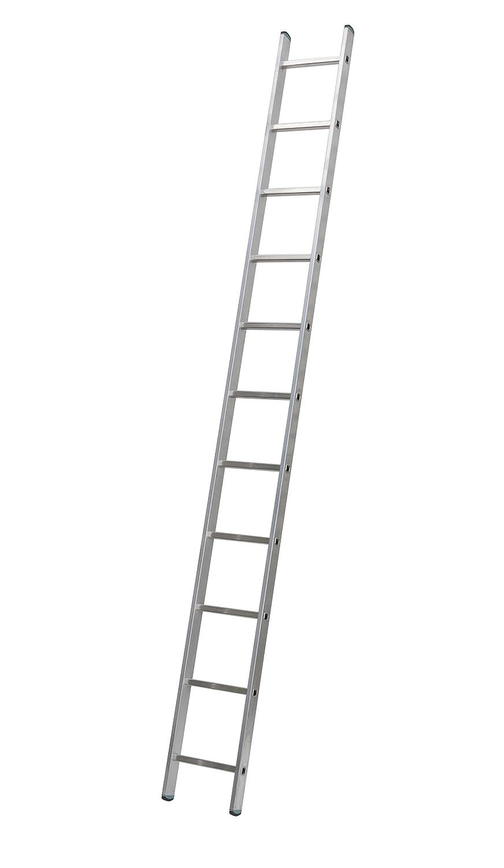 11 Stufen bei 313 cm H/öhe Profi 7111 Aluminium Anlegeleiter einteilig