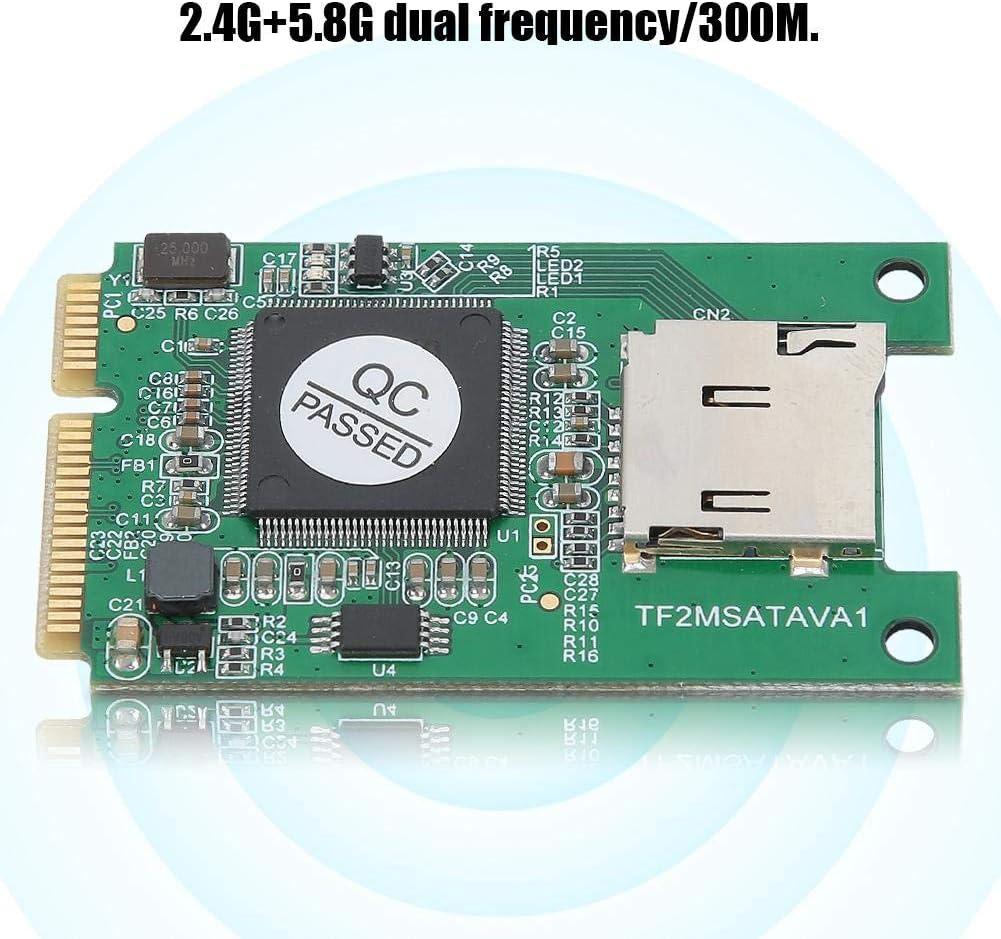 5.8G Tarjeta inal/ámbrica 802.11ABGN 300Mbps Tarjeta Mini PCI-E para DELL//para Acer//para ASUS//para Hasee//para Sony//para Tongfang Tarjeta de Red inal/ámbrica de Banda Dual 2.4G