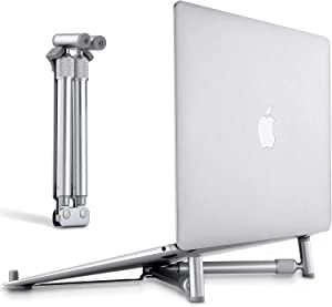 Portable Laptop X-Stand, Adjustable Laptop Stand for MacBook Pro, Aluminum Desk Foldable Compact Universal Computer Cooling Stand for 12-17 inch Laptop