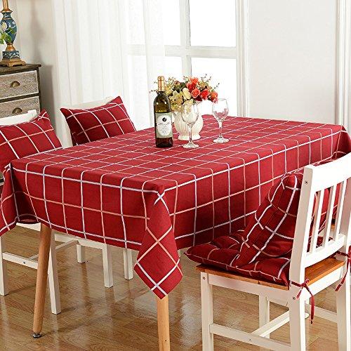 wolala casa simple moda rojo camino de mesa de cuadrícula Vintage ...