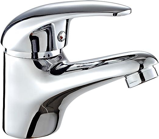 DP Grifería - Grifo monomando de lavabo, color plateado, serie Naranjo: Amazon.es: Bricolaje y herramientas