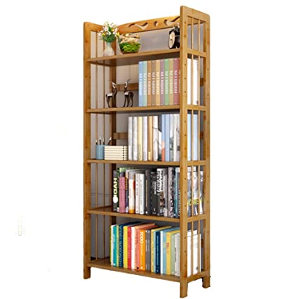 Amazon Com Dulplay Simple Wood Bookshelf 3 5 Tier Thickened Storage