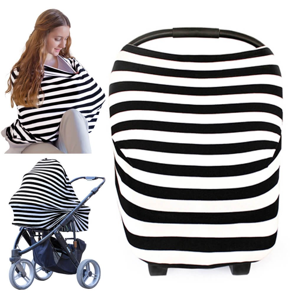 Nursing Cover for Baby Breastfeeding - Car Seat Canopy by KeaBabies