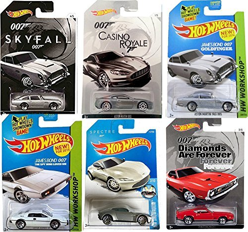 Hot Wheels James Bond Exclusive Skyfall Casino Royale Aston Martin DBS Edition + Daniel Craig Spectre Set Aston Martin DB10 & DB5 Silver Goldfinger Model Car 007 Spy Lotus Esprit Ford Mustang Mach 1