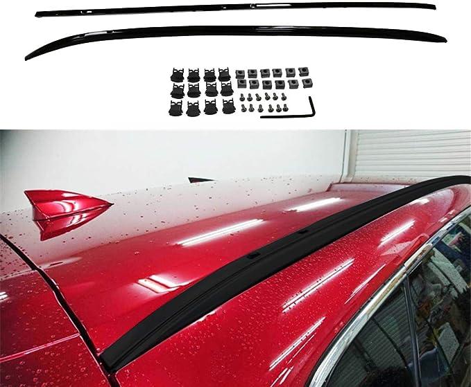 YiXi-Partswell 4Pcs Roof Rail Side Rail Roof Rack Cross Bars Crossbar Fit for Mazda CX-3 CX3 2016-2020
