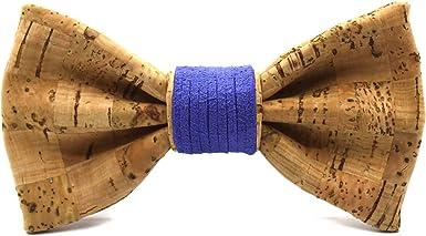 Territorial Pajarita de corcho Brick Color Azul. Colección de moda hombre: Confeccionada en España Wood. Línea boda y eventos. Regalo elegante y original: Amazon.es: Ropa y accesorios
