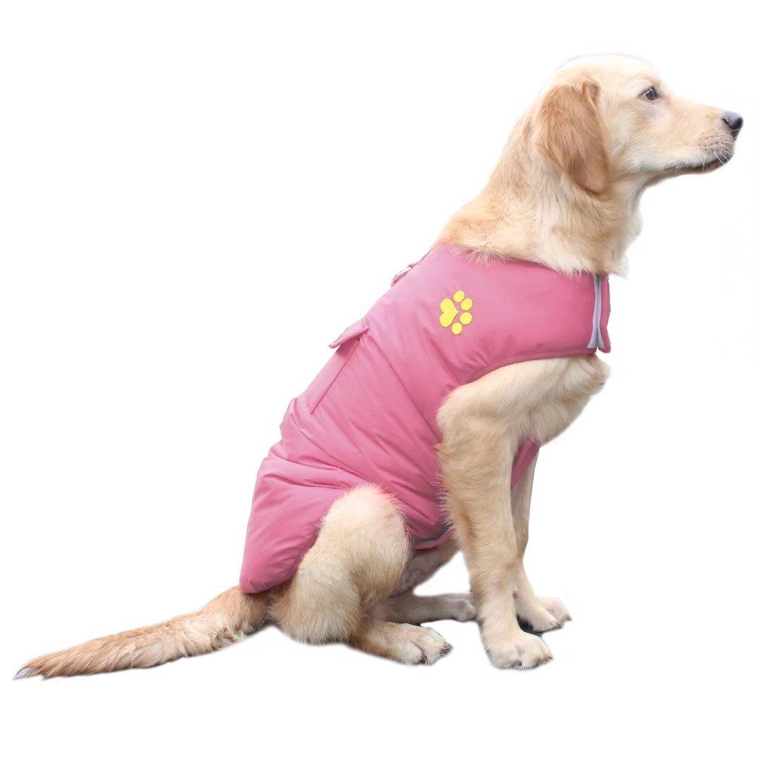 ubest Hundemantel Wasserdichte Winterjacke, mit D-Ring Warm Regenmantel gepolstert Puffer Weste, 6 Farbe und Größe XS Bis 3XL Größe 2XL) ubest Inc.