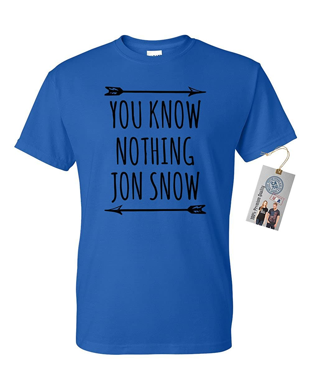 Game of Throne Know Nothing Mens Womens Short Sleeve