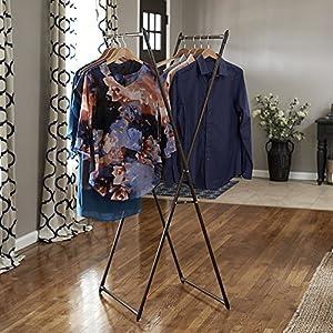Household Essentials 5277 Laundry Valet Garment Rack   Drying Rack   Bronze