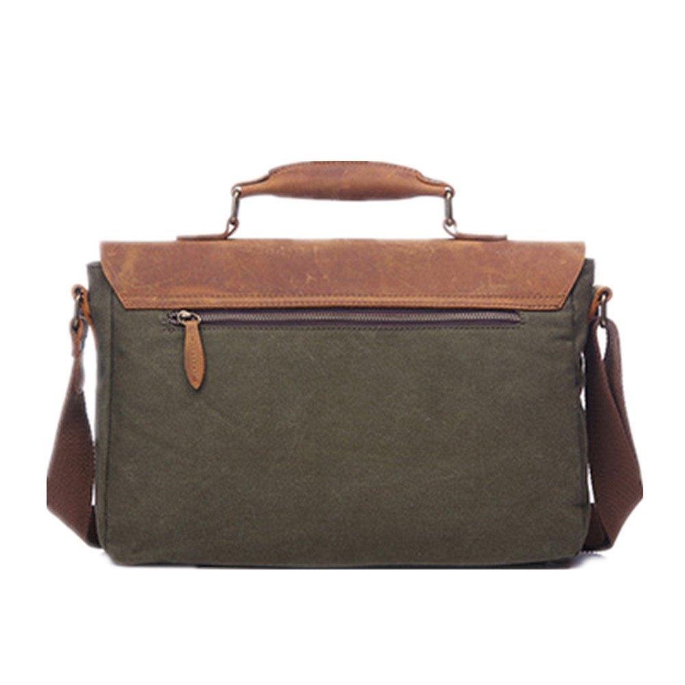 945ac2edcf marron gr Porte-documents pour hommes Messenger Bag Vintage sac imperméable  à leau ciré en cuir ...