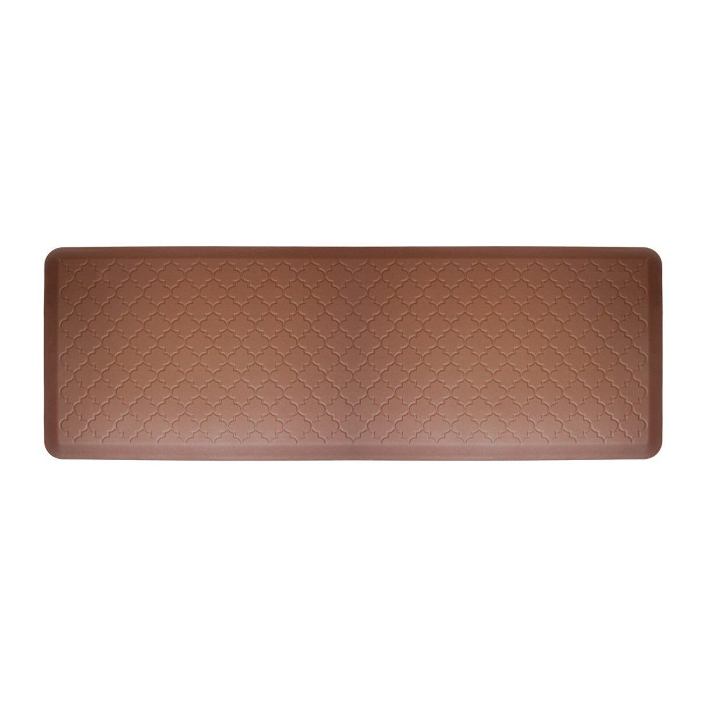 WellnessMats Moire Brown Motif Mat, 72 x 24 Inch