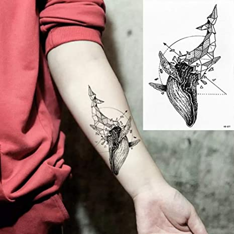 adgkitb 3pcs Etiqueta engomada del Tatuaje Temporal Carta ...