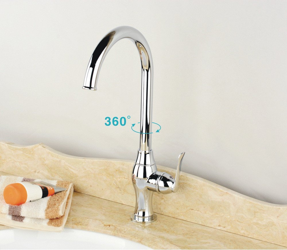 3 Lpophy Bathroom Sink Mixer Taps Faucet Bath Waterfall Cold and Hot Water Tap for Washroom Bathroom and Kitchen Chrome Plating 1