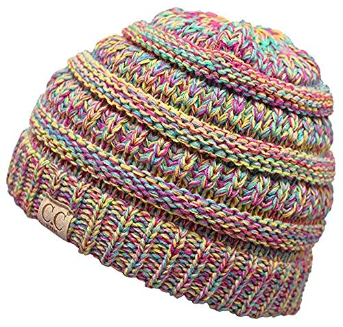 C.C. Exclusives CC Kids Beanie Hats Baby Toddler Ribbed Knit Children Winter Hat Beanie Cap 2-7 years-15 Colors Classic (K Multi Color np)