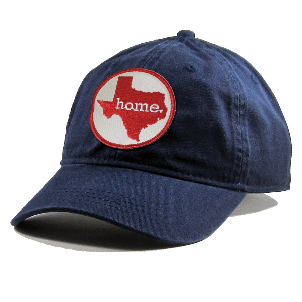 Homeland Tees Mens Texas Home Patch Navy Cotton Twill Hat