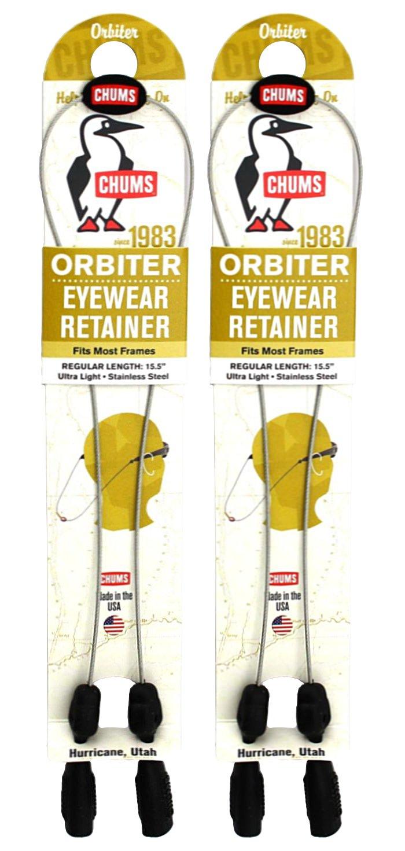Chums Orbiter Eyewear Retainer, Silver (2 Pack)