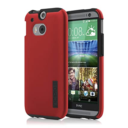 reputable site 3f80d 09c5f Incipio HTC One M8 Case - Dualpro Tough Protection Two Piece Plastic and  TPU Slim Cover - Red/Black