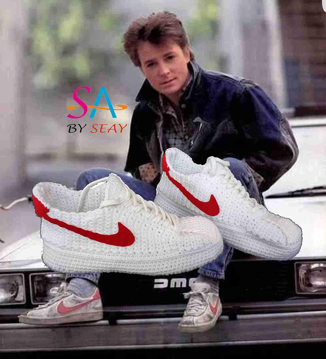 d10c2ef0384 Back to the Future Marty McFly s Crochet Knitting Style Sneakers ...