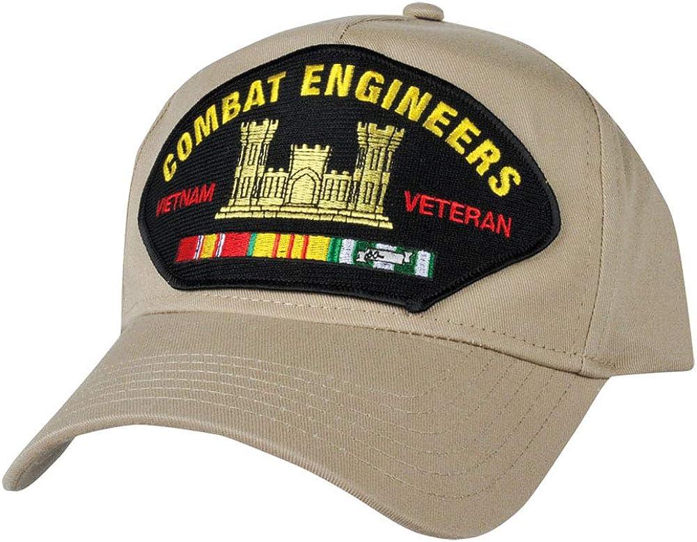 Combat Engineer With Vietnam Service Ribbons Khaki Hat