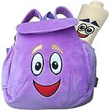 Dora Explorer Backpack Rescue Bag,Purple Dora Explorer Soft Plush Backpack , for Backpacks Pre-Kindergarten Toys…