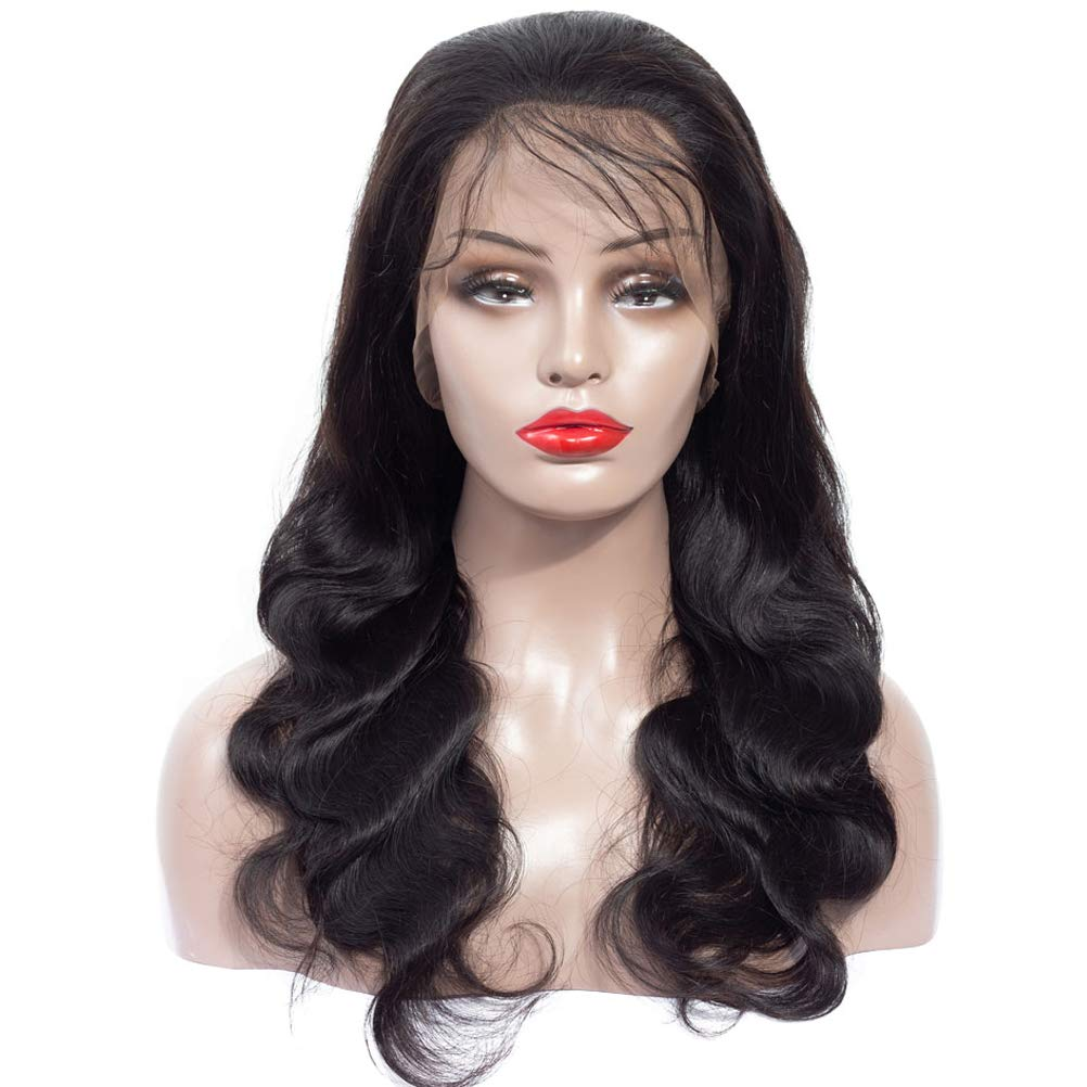 Human Hair 360 Lace Frontal Wigs 14 Inch Brazilian Virgin Lace Front Wigs Human Hair Pre Plucked With Baby Hair For Black Women Natural Black Color(14 inch, 150% Density) by shangzhixiu (Image #6)