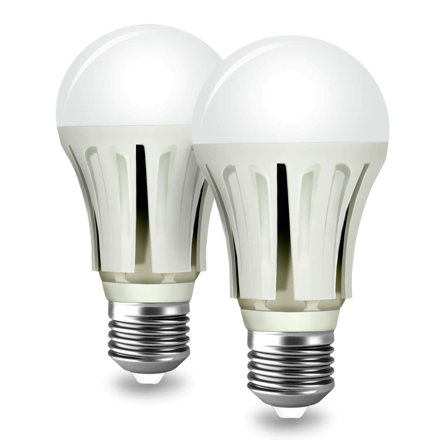 Dusk to Dawn Light Bulbs,ProPOW A19 Smart Sensor Light Bulb 9W 5000k LED Bulbs Automatic on/Off Indoor/Outdoor Lighting Lamp for Porch Garage Driveway Yard Hallway Patio(E26 Daylight White 2-Pack)