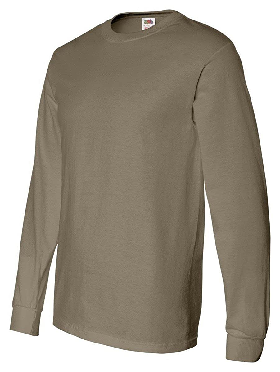 cd514ccb6f8b45 Fruit of the Loom Heavy Cotton HD 100% Cotton Long Sleeve T-Shirt |  Amazon.com