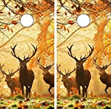 corn bags for hunting - C111 Deer Hunting CORNHOLE LAMINATED DECAL WRAP SET Decals Board Boards Vinyl Sticker Stickers Bean Bag Game Wraps Vinyl Graphic Tint Image Corn Hole