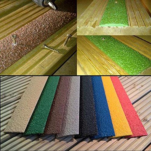50 mm x 1000 mm colore: beige Strisce antiscivolo per pavimenti in legno confezione da 5 pezzi