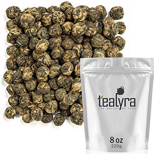 - Tealyra - Black Dragon Pearls - Yunnan Special Black Tea - Loose Leaf Tea - Premium Tea - Bold Caffeine - Organically Grown - 220g (8-ounce)