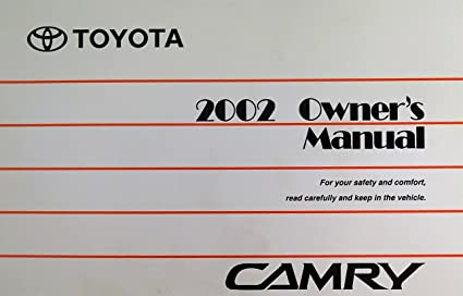 amazon com 2002 toyota camry owners manual toyota automotive rh amazon com Diagram 2002 Toyota Camry Le toyota camry 2004 owners manual