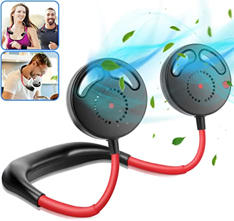 Bladeless Hanging Neck Fan Rechargeable Necklance Fan Portable for Traveling
