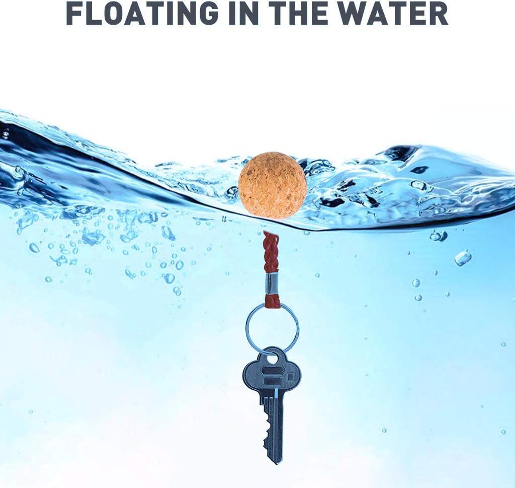 Boating Floating Cork Keyring Water Buoyant Ball Key Ring Canoeing Keychain