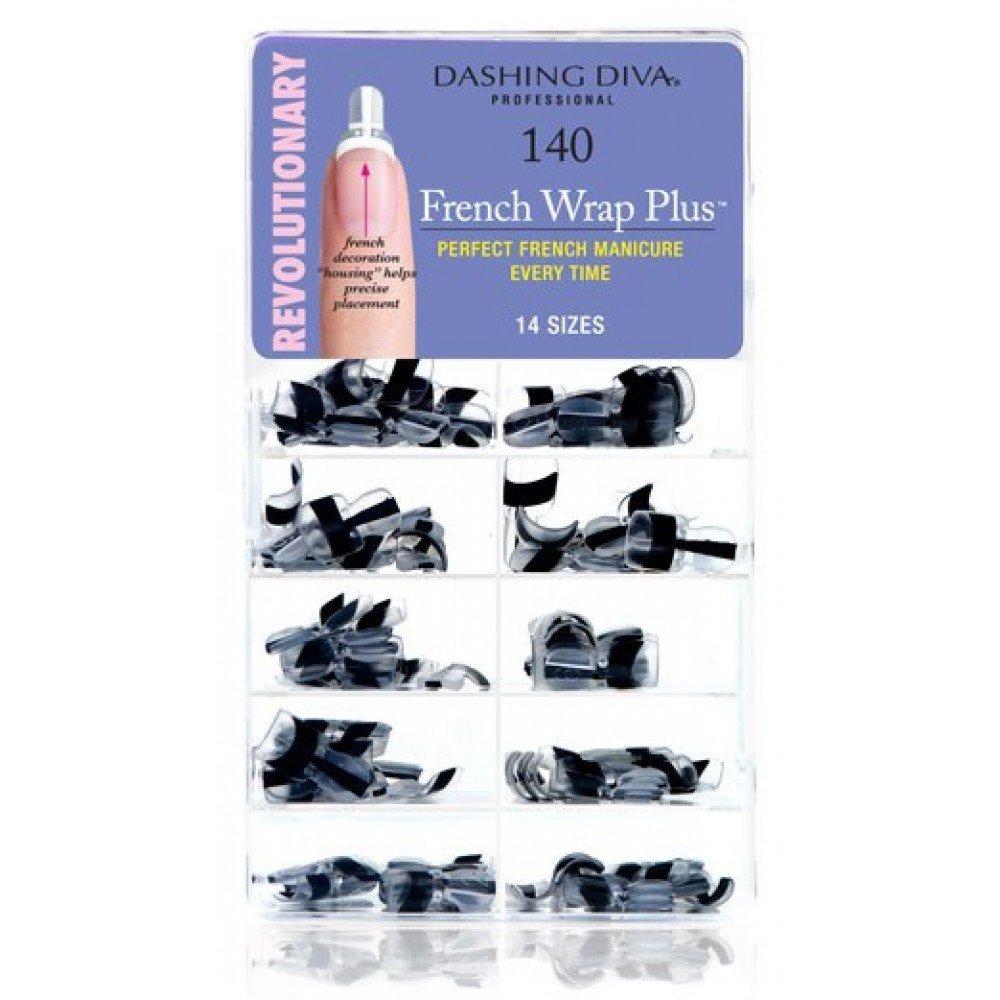 Amazon.com: Dashing Diva French Wrap Plus, Thick Black, 140 Count ...