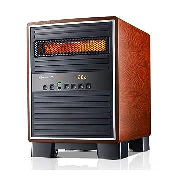 Calentador YNN Radiador eléctrico de la Estufa de la hornada de la Madera sólida eléctrico de la Chimenea con teledirigido - 1500W: Amazon.es: Hogar