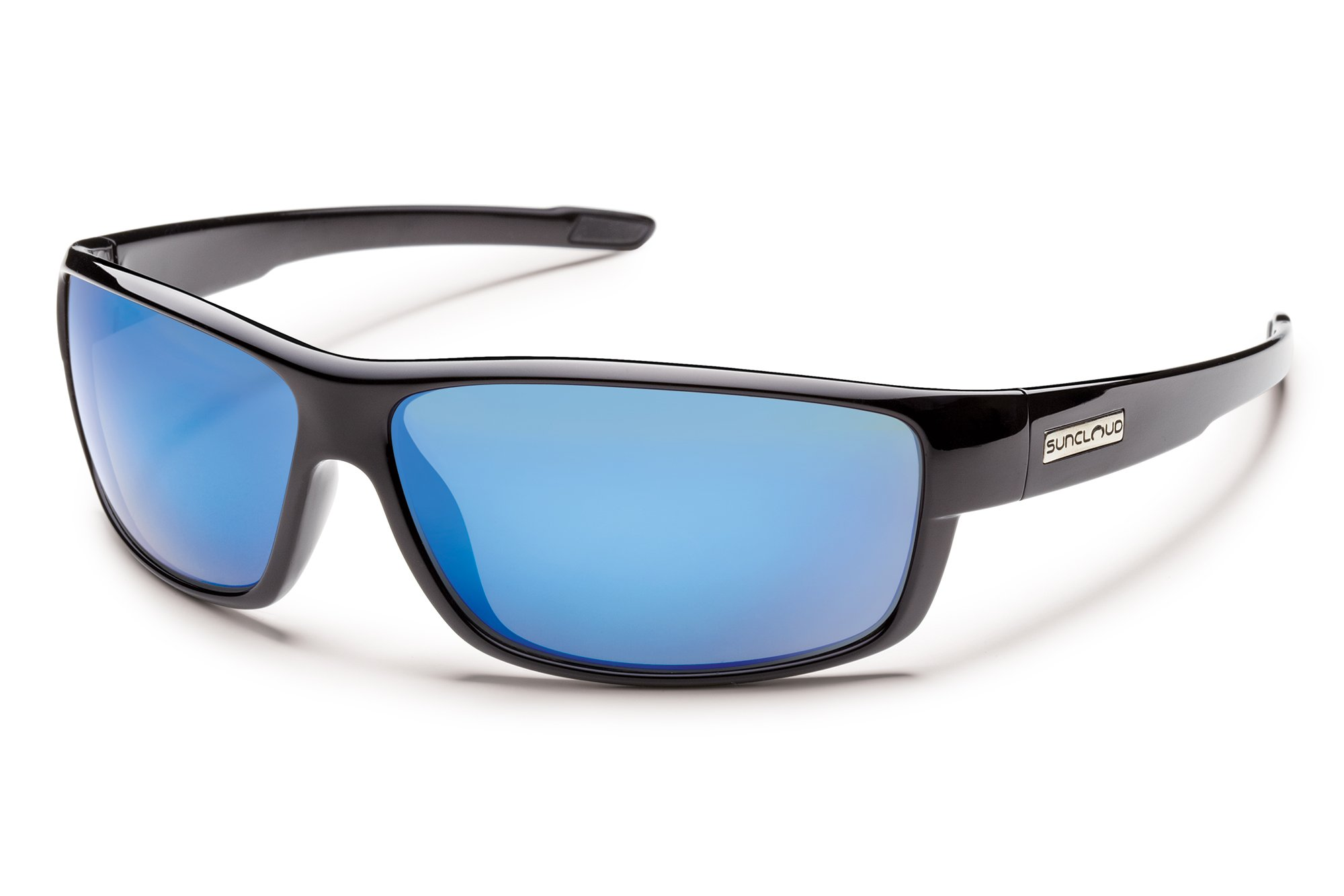 Suncloud Optics Voucher Injected Frames Polarized Fashion Sunglasses - Black/Blue Mirror by Suncloud