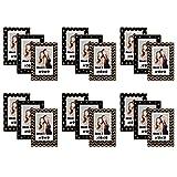 Neil Enterprises, Inc Mini Instax Magnet Photo Frames (Black and Gold, Pack of 18)