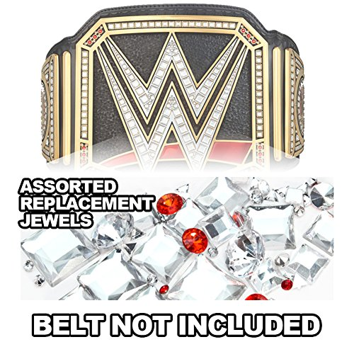 Deluxe Replica Wrestling Belt - Figures Toy Company Replacement Jewels For WWE Championship Adult Size Replica Belt