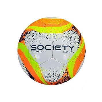 47a3004b26 Bola Futebol Society Infinity VII Penalty - Branco Laranja Azul ...
