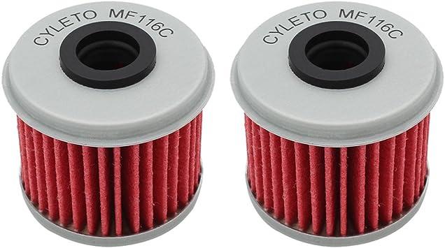 Cyleto Filtro de aceite para TRX450R TRX 450R 2004 2005 2006 2007 2008 2009 2012/TRX450ER TRX 450ER 2006 2007 2008 2009 2012 2013 2014