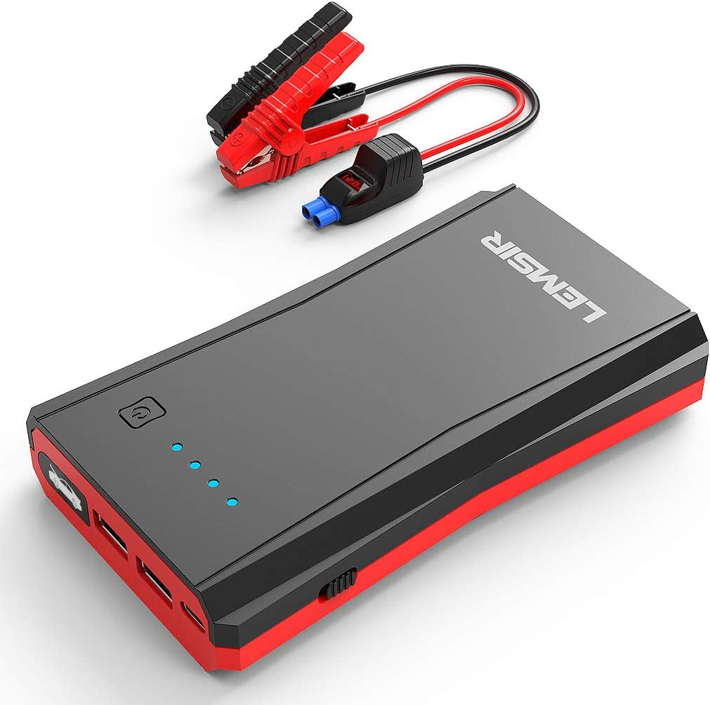 DBPOWER 800A Peak 18000mAh Portable Car Jump Starter up To 7.2L Gas//5.5L With