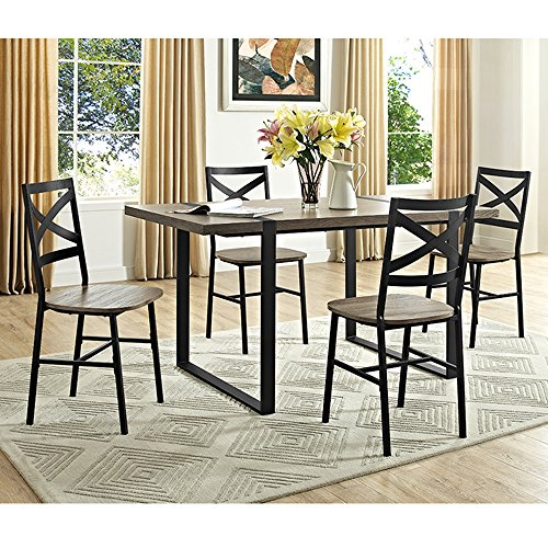 "WE Furniture 60"" Urban Blend Wood Dining Table - Driftwood"