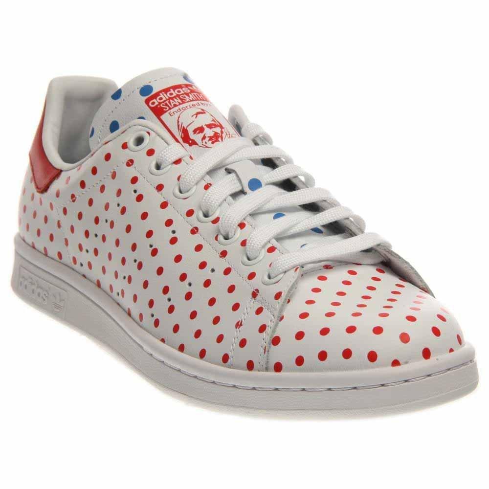 8cc5cc3f84cd9 Galleon - Adidas Originals Mens Pharrell Williams Stan Smith Sneakers-White  Red Blue-7