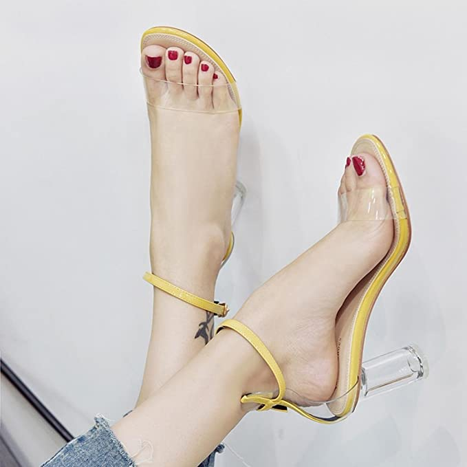 Covermason Zapatos Tacón alto mujer verano 2018, punta abierta para mujeres Block Party: Amazon.es: Ropa y accesorios