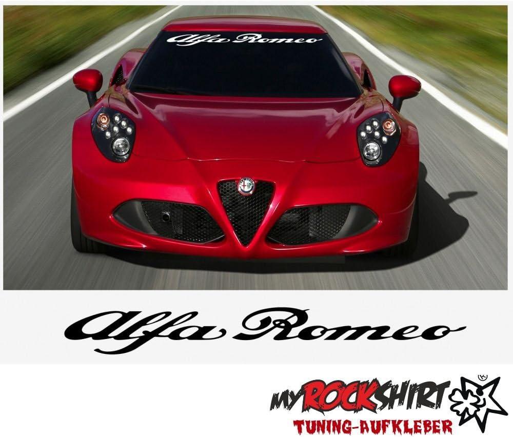 Alfa Romeo 90cm Aufkleber Tuning Scheibe Lack TYP-MRS256 ` waschanlagenfest,Profi-Qualit/ät Montageanleitung von myrockshirt Bonus Testaufkleber Estrellina-Gl/ückstern /®