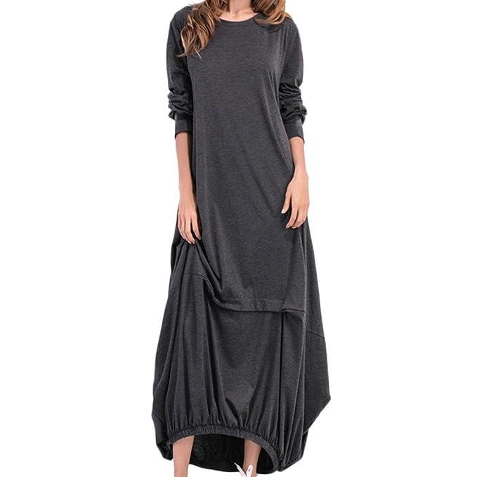 0d8989ed752d Abito ampio a manica lunga da donna Maxi vestito lungo da spiaggia Split  vestiti da cerimonia