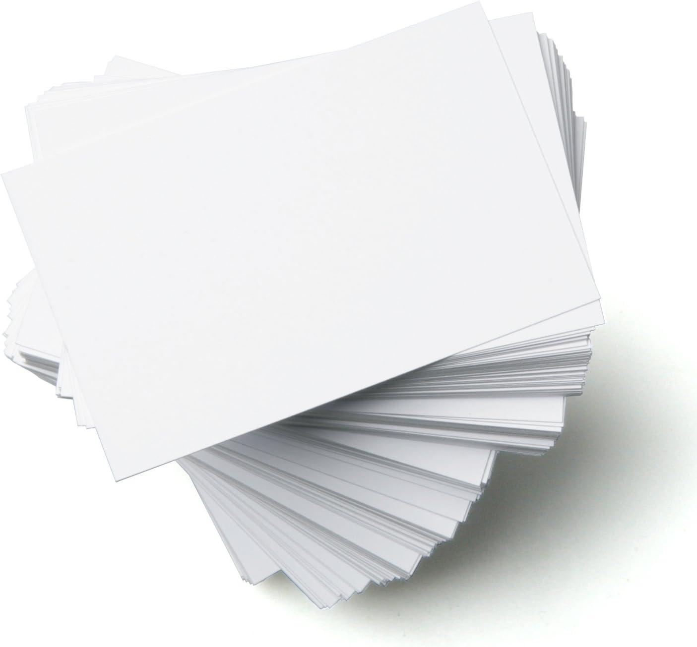 100 x A5 250GSM INKJET PRINTABLE WHITE CARD BLANKS ENVELOPES