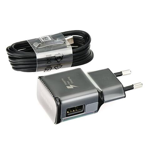 Samsung Original Tipo C Cargador rápido Cargador EP de ta20ebe Color Negro Incluye Vpower USB Tipo C Cable de Carga Cable de Carga rápida Galaxy S8 S8 ...