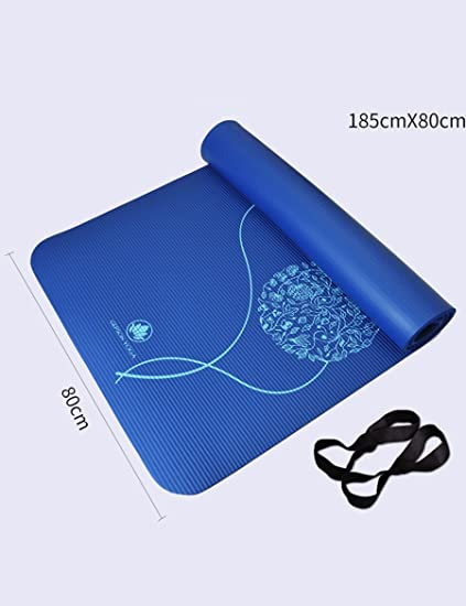Amazon.com : Yoga mat NBR Material Anti-Skid Printing ...