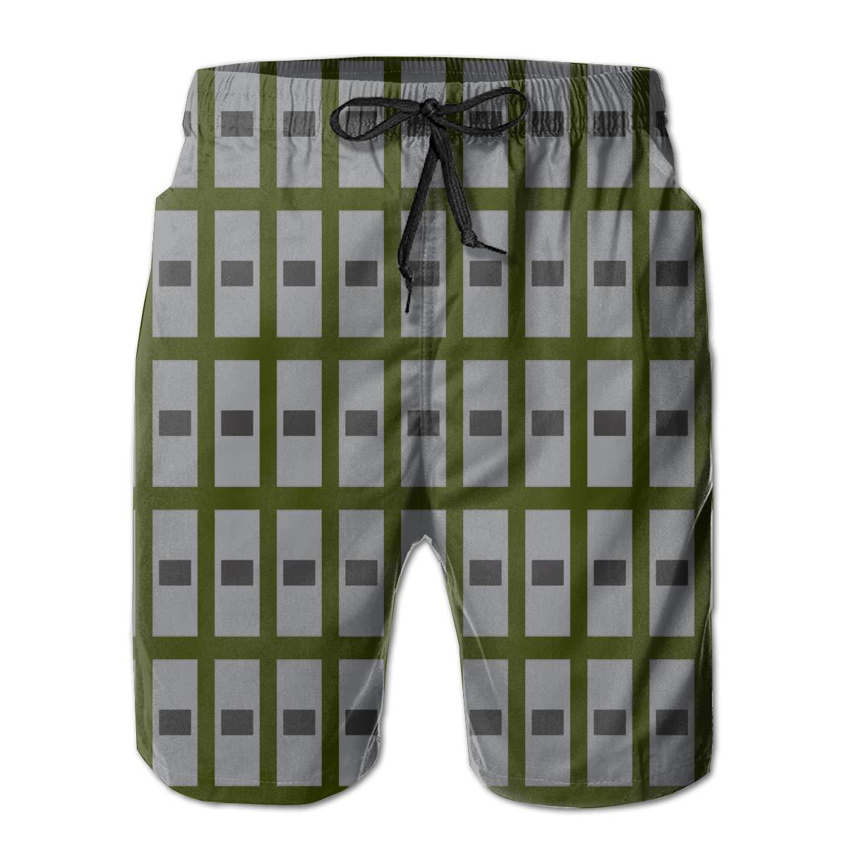 AIYIZHEN Army Warrant Officer 1 Rank Mens Beach Shorts Swim Trunks Swimsuit